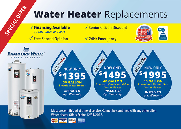 water heater special graphic